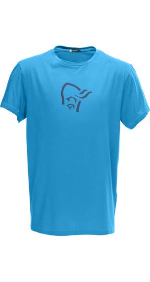 Norrøna M's /29 Cotton Logo T- Shirt Caribbean Blue